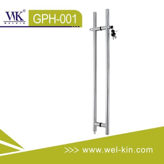 Stainless Steel Glass Pull Handle with Lock (GPH-001)