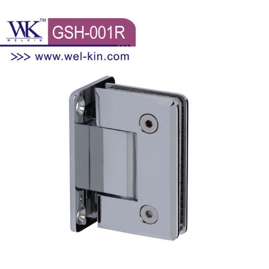 High Quality Brass Satin Nickel 90 Degree Round Shower Hinge (GSH-001R)