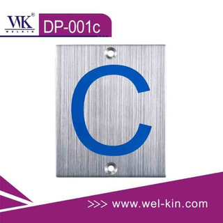 Stainless Steel Door Sign Number (DP-001C)