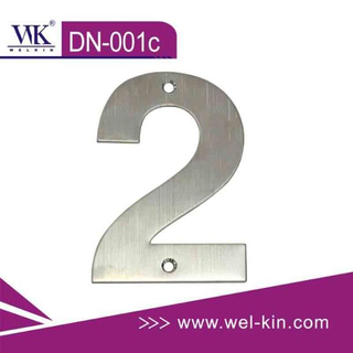 Stainless Steel Door Number Plate (DN-001c)