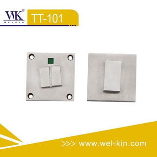 Stainless Steel Casting Square Toilet Indicator Lock (TT-101)