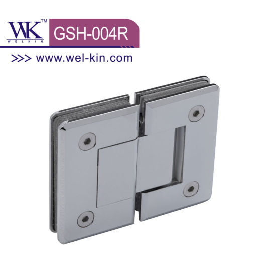 High Quality Brass Satin Nickel 90 Degree Round Shower Hinge (GSH-004R)