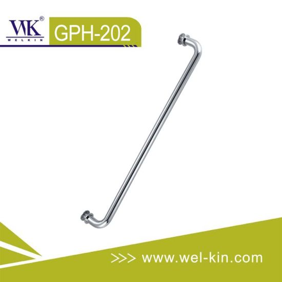 Brass Chrome Bathroom Towel Rail Door Handle (GPH-012)