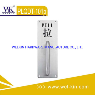 Push and Pull Door Handle on Plate (PLQDT-101b)